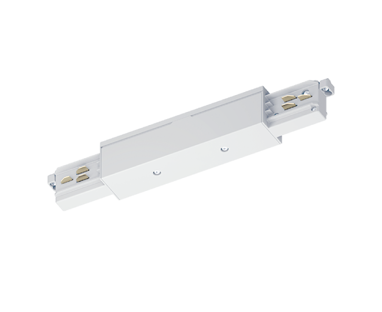CONECTOR LINEAL EXTERIOR CARRIL. ELEC. TRIF. REGULABLE BLANCO